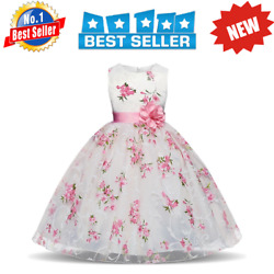 Dresses Girls For Kids Clothes Wedding Flower Birthday Party Costumes Children $15.99