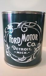 FORD Motor Co. Vintage Oil Can 1 qt. Reproduction Tin Collectible $9.99