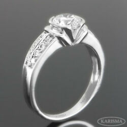 ANNIVERSARY REAL DIAMOND TWO ROWS RING 2.21 CT FLAWLESS VS1 14K WHITE GOLD