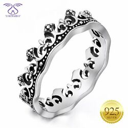 Women 925 Sterling Silver Queen Crown Ring Band Size 6 7 8 9 10