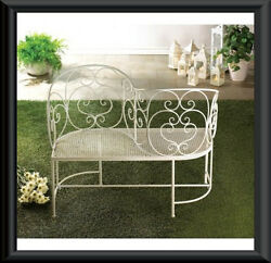 Vintage Style Love Seat Romantic Couple Bench Great for your Garden or Patio