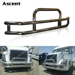 TRUCK CHROME STAINLESS STEEL &FRONT BUMPER GRILLE GUARD Fit Volvo VNL 2004-2019.
