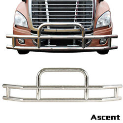 Truck Chrome Stainless Steel&Front Bumper Grill Bar Guard Fit Cascadia 2008-2017