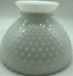 vintage Hobnail Milk Glass Student Oil Kerosene Lamp Light Shade