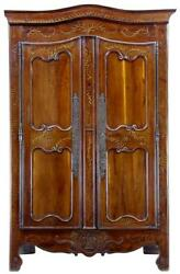 18TH CENTURY ANTIQUE FRENCH YEW WOOD CHESTNUT ARMOIRE