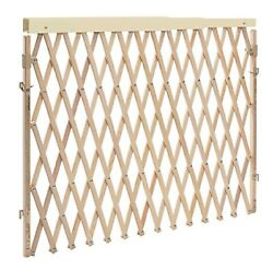 Expandable Swing Wide Gate Fence Baby Kids Child Pet Dog Safety Tan Wood Wide $69.85
