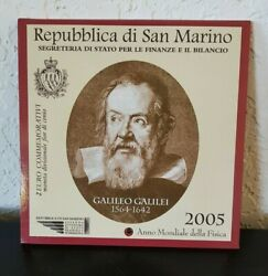 San Marino 2 euro Commemorative coin 2005 Galileo Galilei blister without cover