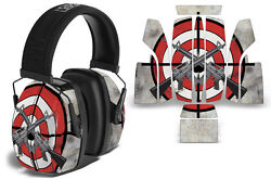 Sticker Wrap Decal Fits: Howard Leight Impact Noise Ear Shooting Muffs BULLSEYE $19.95