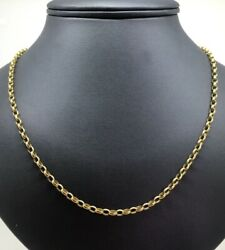 9K Yellow Gold (375) Oval Belcher Link Vintage ChainNecklace