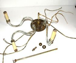 3 VINTAGE ARMS CHANDELIER CUT GLASS AND ACCESSORIES $45.00