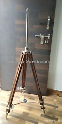 Wooden Adjustable Tripod Modern Shade Lamp Tripod Stand Home amp; Office Decorative $199.00