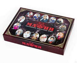 MAFIA Adult Party Board Game IN RUSSIAN МАФИЯ LARP Role Play Card Group Game