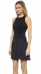 $1.170 0 2 xs s Alexander Wang Sleeveless Perforated Vinyl Sneaker Dress pleated