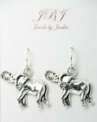 Elephant earrings Wild Nature Africa 925 sterling silver earrings pewter charm