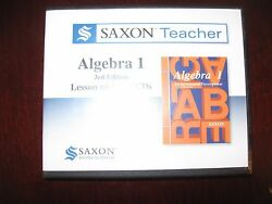 Saxon Teacher Algebra 1 : Lesson and Test by Harcourt Education Staff (2009 CD)