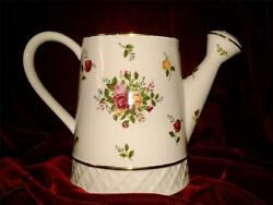 Royal Albert Old Country Roses Watering can pitcher vase or planter 22K rim