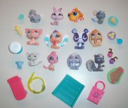 Huge Lot B - Littlest Pet Shop LPS 12 Assorted Animals With Tons of Accessories!