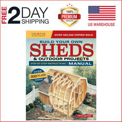Building Sheds Storage Utility Detailed Plans DIY Blueprints Design Build Guide