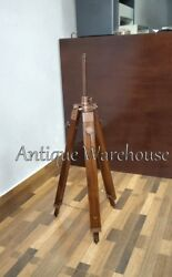 Nautical Tripod Stand Modern Copper Antique Floor Shade Lamp Stand Decorative $59.00