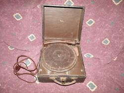 RARE ca 1950 Trela portable slide-out 78 Tube Record Player Running *Worldwide*