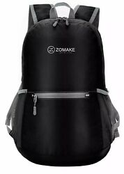 1ZOMAKE Black Ultra Lightweight Packable Backpack Water Resistant Hiking Daypack $10.99