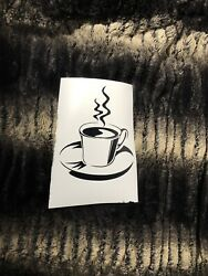 Black Coffee Black Tea Cup Silhouette Art Kitchen Counter Wall Decal Home Decor $6.99