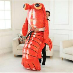 Lifelike Shrimp Plush Giant Simulation Lobster Anime Mantis Stuff Doll Gift 78''