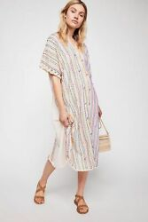 Free People There She Goes Embroidered Kaftan-OS-$168 MSRP