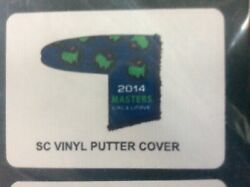 RARE 2014 SCOTTY CAMERON MASTERS Golf Blue Vinyl Putter Cover NOT Badge or Flag