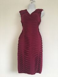 HOLIDAY DESIGNER COCKTAIL DRESS ADRIANNA PAPELL FUSCIA SIZE 10 NEVER WORN