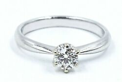 Classic 18ct White Gold & Solitaire Diamond Rind - Engagement Ring