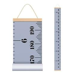 Baby Height Growth Chart Ruler for Kids Wall Wood Frame and Canvas Room $11.59