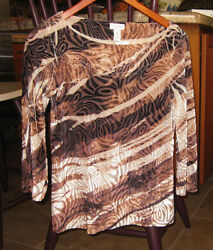 New Chico's 34 Bell Sleeve Velvet Top Size 0  S Very Pretty $19.00