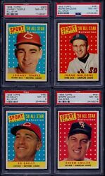 PSA 8 1958 Topps #478 Johnny Temple Cincinatti Reds All Star SET BREAK $44.44