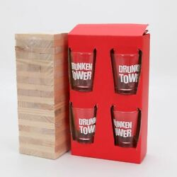 Drinking Tumble Tower 60 Wooden Blocks Drinking Dares Party Gift Novelty Adults GBP 9.99