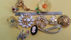 vintage brooch lot of 11 items assorted PINS