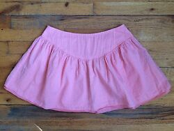 Flu#x27;s Ear Girls Skirt Pink Polka Dot Made In Italy 100% Cotton Sz 42 PERFECT $24.95