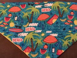 Life Is A Beach  Over The Collar Dog Bandana Summer Collection One $4.00