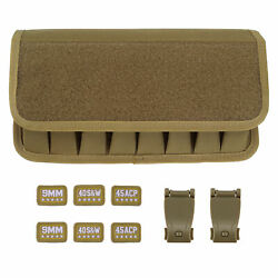 Coyote Tan Molle 9MM .45 ACP .40 Samp;W 8 Mag Pouch with Pistol Magazine Holster $13.99