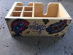 New Milagro Tequila Napkin Caddy Wooden. Free Priority Shipping ~ ~ ~