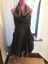 Stunning All Saints Athene Dress Graphite Size 10 (8-12) VGC $50.03