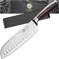 Kessaku Santoku Knife - Samurai Series - Japanese Etched High Carbon Steel - 7