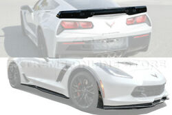 Z06 Stage 3 CARBON FIBER Front Lip Side Skirt Rear Spoiler For 14-19 Corvette C7