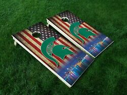 VINYL WRAPS Cornhole Board DECALS Michigan State Spartans 08 MSU Bag Game Toss