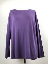 Essentials Purple Cotton Long Sleeve Women's Top Plus Size 18