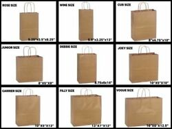 Retail Shopping Kraft Gift Bags Brown Paper With Handles 10x5x13 $28.45