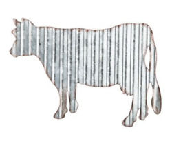 Corrugated Metal Cow Farmhouse Rustic Decor Wall Art New $12.99
