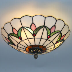 Stained Glass Tiffany Style Hanging Pendant Light Ceiling Lighting Lamp Fixture $38.99