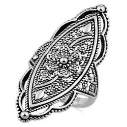 Extravagant Rope Flower Ring size 7(USA seller) 925 Sterling silver