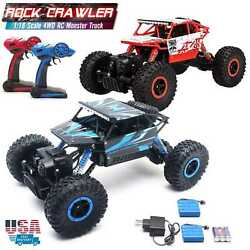 1 18 RC Monster Truck 4WD Off Road Vehicle 2.4G Remote Control Buggy Crawler Car $29.98